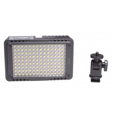 LED Video & Foto camera 7W LEDC-7W - 5500°K - 750 lx - Voor 5 AA batterijen / 7.4V Li-ion batterij / extern: DC 5.8-9V