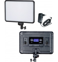 LEDP30 - LED Video & Foto Studioverlichting 30W + 30W Bi-Color, 2x NP-F750/960 batterijslot, DC 13V-17V - illuStar
