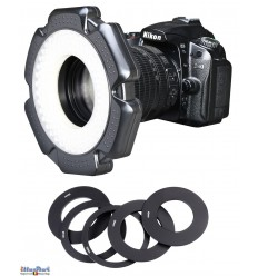 LED Ring Video & Foto cameralamp 10W - LEDR-10W - 5500 ° K - 1200 lm - Voor 6 AA-batterijen