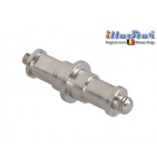 "SP-D4M8M - 5/8"" Spigot dubbel - 68mm (male 1/4"" - male 3/8"")"