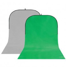 StudioKing Background Board BBT-03-10 Grijs/Groen 400x150 cm